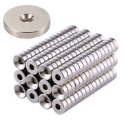 Andphi8-andphi100 N35 Strong Magnets Neodymium Rare-earth Disc With Hole Magnet Anti-rust