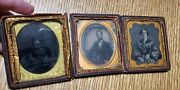 Ambrotype Tintype Named Family Photo And Letter Lot Miscellaneous Photographs