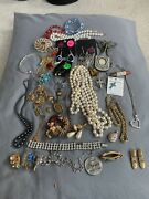 Vintage To Now Junk Jewelry Lot, Unsearched, Untested Small Flat Rate Box Full