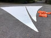 Helms Vintage Sailboat Sails Main And Jib Nice Condition 28' 25'