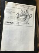 Industrial Sewing Machine- Maier-universal Blind Stitch3 Booklets Manuals