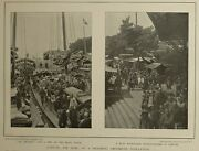 1900 China Print And Text Canton Water Side Boats On Pearl River