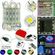 160'ft 3led 5050 Smd Module Light 12v Club Store Window Sign Lamp +power +remote