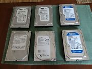 6 Total Hdd's, 2 Dell 250gb 7.2k Rpm 3g 3.5 Sata Hdd Hard Drives Wd2502abys+++