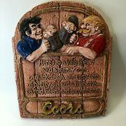 Vintage Coors Beer Chalk Plaque Hereand039s To A Long Life... And A Merry One