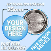 25mm Custom Badges Andbull Personalised Printed Badge Andbull Hen Stag Promotional Button