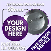 59mm Custom Badges Andbull Personalised Printed Badge Andbull Hen Stag Promotional Button