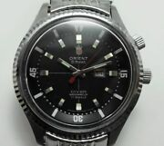 Orient 8 Beat Diver O-413-70300 17jewels Day-date Hand Winding Black Dial Watch