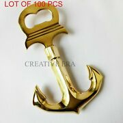 Handmade Nautical Solid Brass Anchor Bottle Opener Decor Paper Weight Gift Style