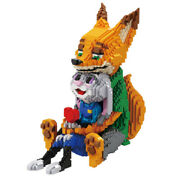 4600pcs Red Fox Nick And Rabbit Judy Building Blocks Set Animals Zoo Toys For Kids