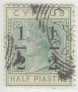 Cyprus 1886 Issue ½ Piastre Used Sg.27 = Scott 26a Rr