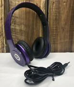 Beats By Dr Dre Solo Hd Purple Headphones - With Cord