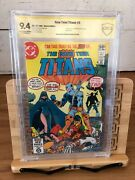 New Teen Titans 2 Cbcs Ss 9.4 Signed By George Perez 1st App Deathstroke