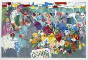 Leroy Neiman Bistro Gardens Serigraph Signed And Numbered