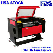 Us Stock 700mm X 500mm 80w Co2 Laser Engraver Cutter Machine With Laser Tube