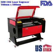 27.5 X 20 80w Co2 Laser Engraver Equipped With 80w Co2 Laser Tube-us Stock
