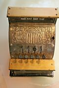 Toy Old Sheet Metal Beautiful Case Register Accessory Grocery Years 1900
