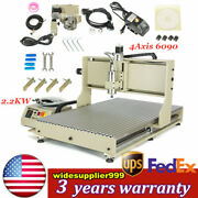 4 Axis Cnc 6090 Router Engraver 2.2kw Spindle Engraving Machine W/ Usb Port