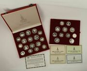 1980 Ussr Moscow Olympic Silver Coin Set W/ Case And Coa - Free Shipping Usa