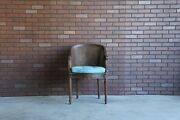 Antique French Regency Cane Carved Arm Chair French Provincial Accent Chair
