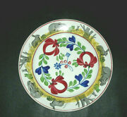 Early Rabbit Ware Ceramic Dinner Plate - Frogs Staffordshire Spatterware Spatter