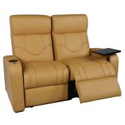 Cavallo Empire Home Theater Seating Leather Row Of 2 Loveseast With Usb