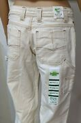 Nwt Twenty X Jackson Low Rise Relaxed Fit Natural Weave Jeans Boot Size 5/6 X 34