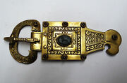 Gothic Silver And Pure Gold Buckle With Eagle Green Agate Lion And Carnelian
