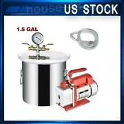 1.5 Gallon Vacuum Chamber And 3 Cfm Single Stage Pump To Degassing Silicone Kit