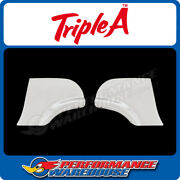 Fender Skirt Scuff Pads Pair To Suit 1957 Chevy Car - Polished Stainless Steel