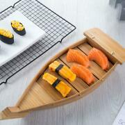 Cuisine Sushi Boats Handmade Wooden Boat Model Sushi Simple Kitchen Tool X 1