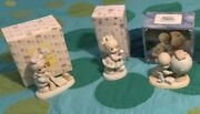 Precious Moments Figurines - Amazing Lot Of 3 Exclusive Pieces