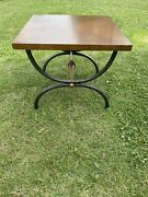 Stunning Mid Century Coffee Wooden Table With Cast Iron By Tomlinson Furniture