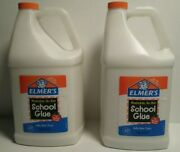 Elmers Liquid School Glue Washable - Great For Making Slime 2 Pack 1 Gallon