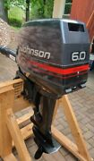 6hp 2-stroke Johnson Outboard Motor 1996 20 Shaft New Stored 20 Years J6reds