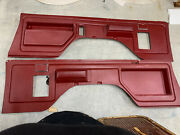 80-91 1980-1991 Ford Bronco Rear Interior Panels W/armrests Ashtrays Red
