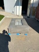 High End Concrete Rectangle Fire Table - Fire Pit - Fire Feature