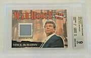 2001 Fleer Wwf Raw Is War Booty Insert Relic Ring Mat Vince Mcmahon Bgs 9 Wwe