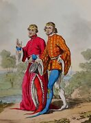 1811 Fashion Costume Print Hand Coloured Officers Of Court Of King Richard 2nd