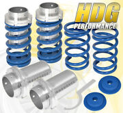 For 89-99 Eclipse Adjustable Lowering Spring Coilover Sleeve Vip Scaled Set Blue