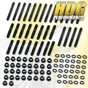 Cylinder Head Bolt Studs Nuts For 55-00 Chevy Small Block Sbc Motor 282 302 307