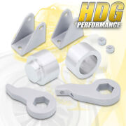 3 Front 2 Rear Silver Leveling Lift Kit W/ Shock Extenders For 03-10 Hummer H2