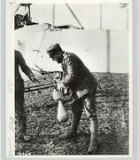 World War I Soldier Attaching Bomb To Airplane Aviation Wwi C 1915 Press Photo