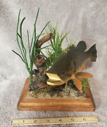 Unique Fish Decoy/carving/lure Display Stand A-119 Stangland Fish And Lures