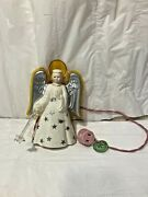 """Vtg Mcm Rare 1950's Noma Angel-lite With """"star Wand"""" Tree Topper As Is Works"""