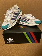 Adidas Boost Tresc Run Shoes Rare Eh1352 Purple Turquoise Gray New Menand039s Us 10.5