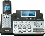Vtech 2 Line Cordless Phone System Digital Answering Machine For Home Office