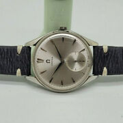 Rare Large 1964 Omega Seamaster Cal269 Silver Dial Manual Wind Manand039s Watch