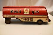 Vintage Japan Tin Toy Friction Mobil Gas Tanker Advertising 1959 Collectibles