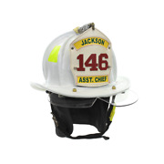 Cairns N5a Firefighter New Yorker White Fire Helmet Leather Osha Bourkes Large